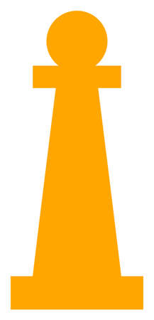 Raster Stanchion flat icon. Raster pictograph style is a flat symbol Stanchion icon on a white background. Stock Photo
