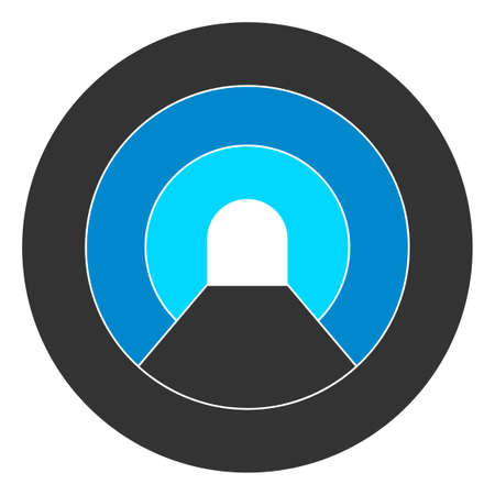 Raster pipe tunnel flat icon. Raster pictograph style is a flat symbol pipe tunnel icon on a white background.