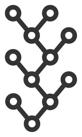 Raster binary tree v3 flat icon. Raster pictogram style is a flat symbol binary tree v3 icon on a white background.