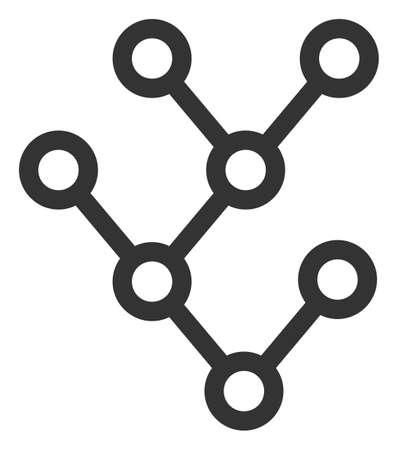Raster binary tree v18 flat icon. Raster pictograph style is a flat symbol binary tree v18 icon on a white background. Фото со стока