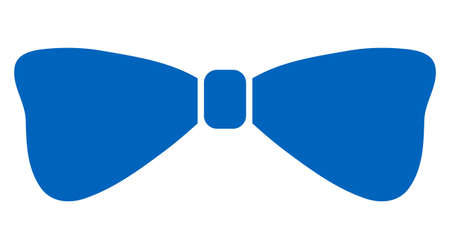 Raster bow tie flat icon. Raster pictograph style is a flat symbol bow tie icon on a white background. Фото со стока