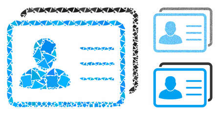 User profiles mosaic of tuberous items in different sizes and color tints, based on user profiles icon. Vector humpy items are organized into collage. User profiles icons collage with dotted pattern.