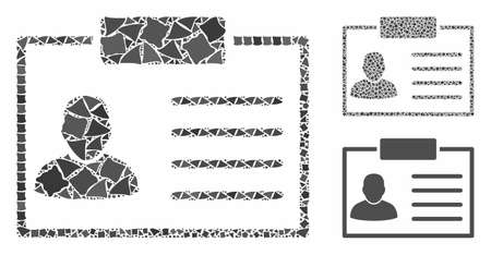 Badge composition of abrupt elements in variable sizes and color tones, based on badge icon. Vector irregular elements are grouped into composition. Badge icons collage with dotted pattern. Archivio Fotografico - 133207720