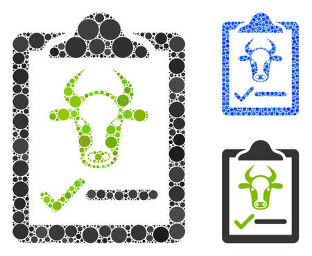 Cattle contract composition of circle elements in different sizes and color tinges, based on cattle contract icon. Vector random circles are organized into blue composition. 向量圖像