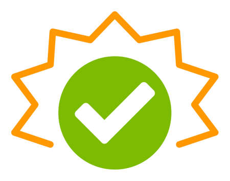 True alert raster icon. Flat True alert pictogram is isolated on a white background.