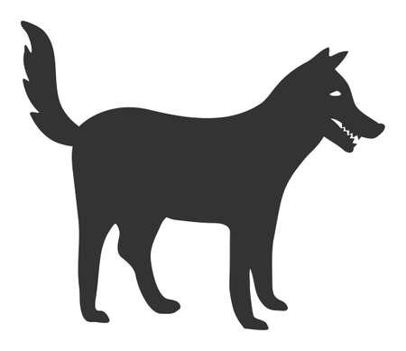 Dog raster icon. Flat Dog pictogram is isolated on a white background. 版權商用圖片