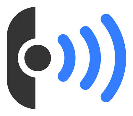 Radio sensor raster icon. Flat Radio sensor symbol is isolated on a white background. 版權商用圖片 - 133584935