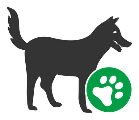 For dogs raster icon. Flat For dogs pictogram is isolated on a white background. Stock Photo