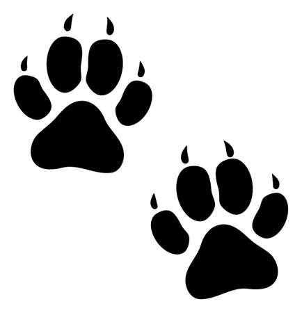 Tiger footprints raster icon. Flat Tiger footprints symbol is isolated on a white background. Zdjęcie Seryjne