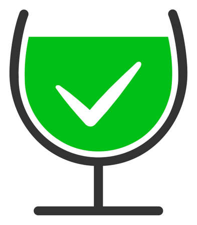 True drink glass raster icon. Flat True drink glass pictogram is isolated on a white background. 免版税图像