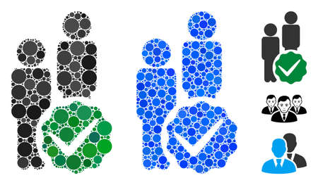 Men only mosaic of filled circles in different sizes and color hues, based on men only icon. Vector filled circles are grouped into blue collage. Dotted men only icon in usual and blue versions.