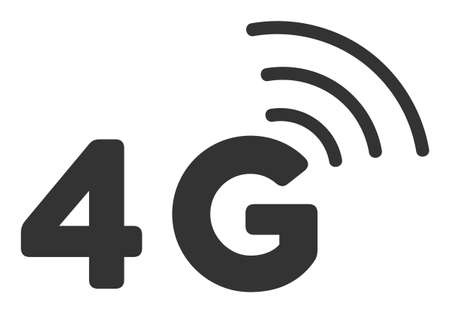 4G vector icon. Flat 4G symbol is isolated on a white background. 向量圖像