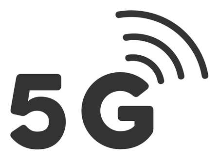 5G vector icon. Flat 5G pictogram is isolated on a white background.