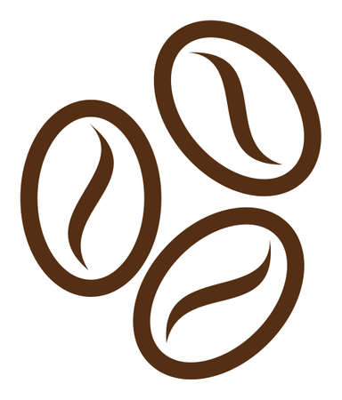 Cacao beans vector icon. Flat Cacao beans symbol is isolated on a white background.
