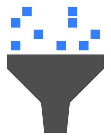 Data filter vector icon. Flat Data filter symbol is isolated on a white background.