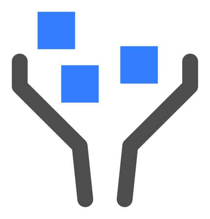 Data filtering vector icon. Flat Data filtering symbol is isolated on a white background.