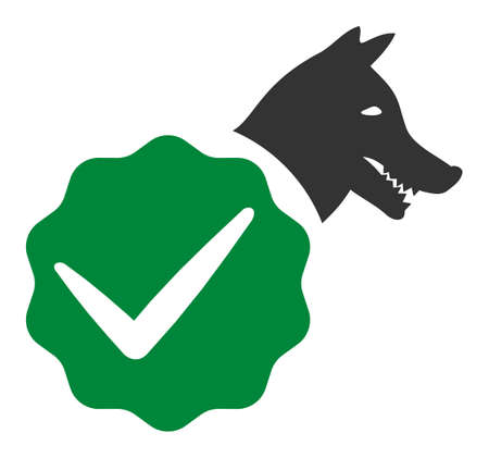 For dogs only vector icon. Flat For dogs only symbol is isolated on a white background. Illustration