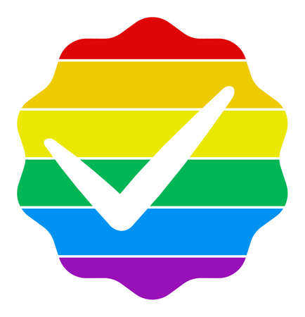 For LGBT only vector icon. Flat For LGBT only symbol is isolated on a white background. Illustration