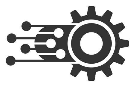 Icono de vector de aprendizaje automático. El símbolo de aprendizaje automático plano está aislado en un fondo blanco.