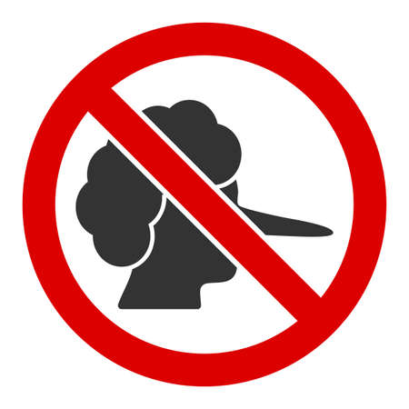 No faker vector icon. Flat No faker symbol is isolated on a white background. Vektorové ilustrace