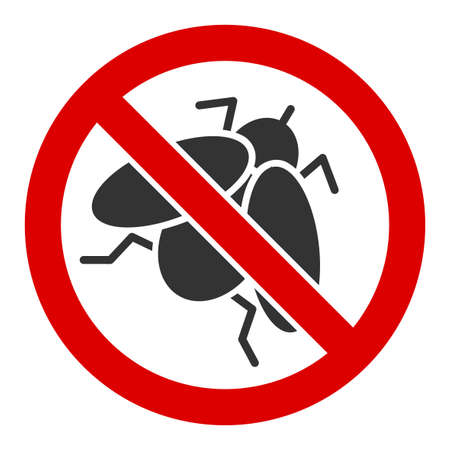 No fly insect vector icon. Flat No fly insect pictogram is isolated on a white background. Foto de archivo - 137262932