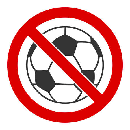 No football vector icon. Flat No football symbol is isolated on a white background.  イラスト・ベクター素材