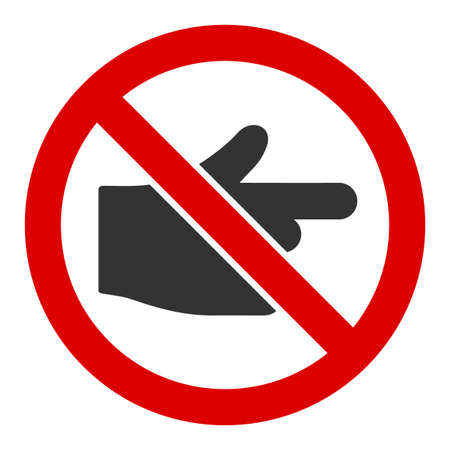 No index finger vector icon. Flat No index finger symbol is isolated on a white background. Ilustração