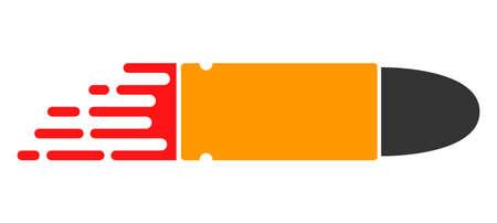 Rush bullet vector icon. Flat Rush bullet symbol is isolated on a white background. Illusztráció