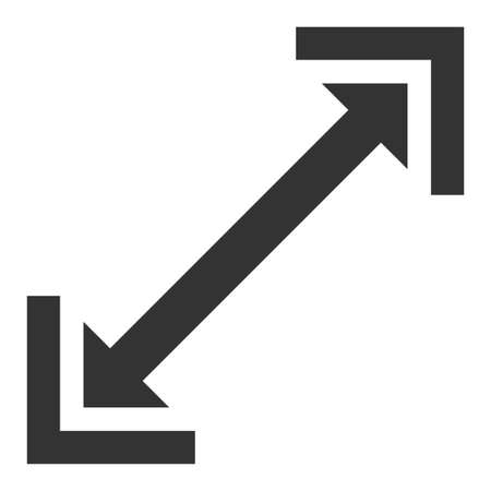 Scalability vector icon. Flat Scalability symbol is isolated on a white background.