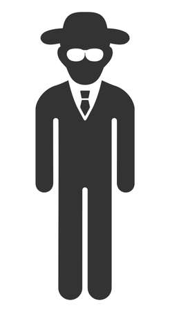 Security agent vector icon. Flat Security agent symbol is isolated on a white background.