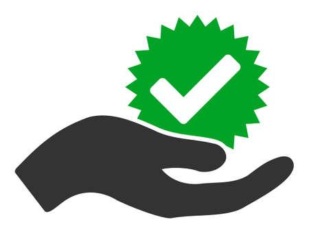 Icône de vecteur de vrai bonus. Le pictogramme Flat True bonus est isolé sur fond blanc.