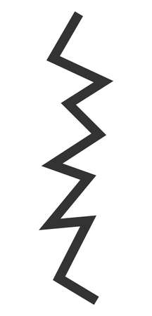 Zigzag line vector icon. Flat Zigzag line symbol is isolated on a white background.