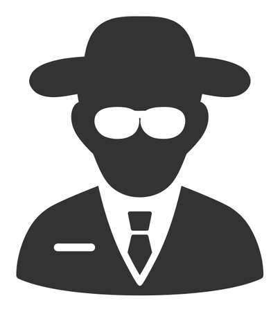 Secure agent vector icon. Flat Secure agent symbol is isolated on a white background.