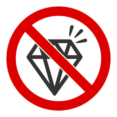 No brilliant vector icon. Flat No brilliant pictogram is isolated on a white background.