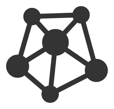 Network links vector icon. Flat Network links pictogram is isolated on a white background.