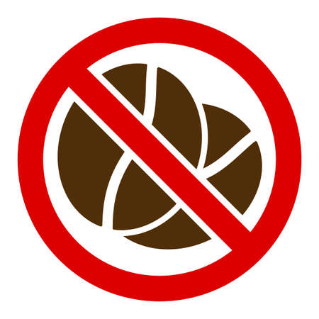 No caffeine vector icon. Flat No caffeine symbol is isolated on a white background. Vector Illustratie