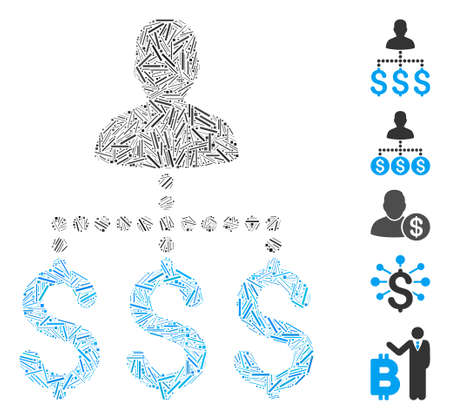Line Mosaic based on user payments icon. Mosaic vector user payments is composed with randomized line elements. Bonus icons are added.