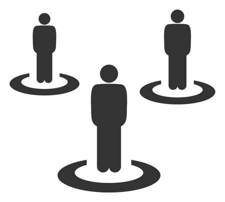 Vector people isolation flat icon. Vector pictograph style is a flat symbol people isolation icon on a white background. Vecteurs