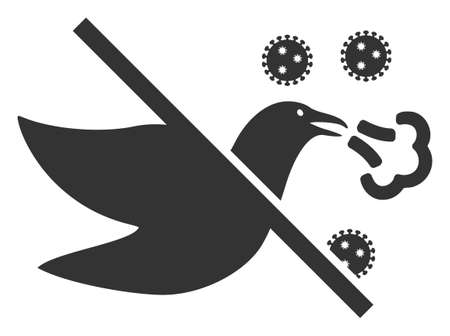 Vector no bird flu flat icon. Vector pictograph style is a flat symbol no bird flu icon on a white background.
