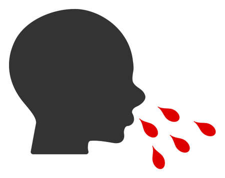 Vector sneezing man flat icon. Vector pictograph style is a flat symbol sneezing man icon on a white background. Çizim