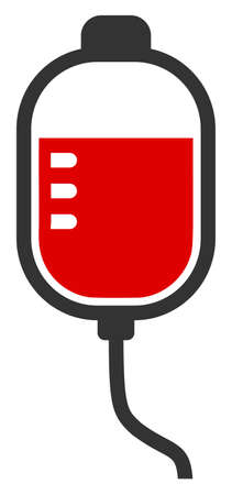 Vector therapy dropper flat icon. Vector pictogram style is a flat symbol therapy dropper icon on a white background.