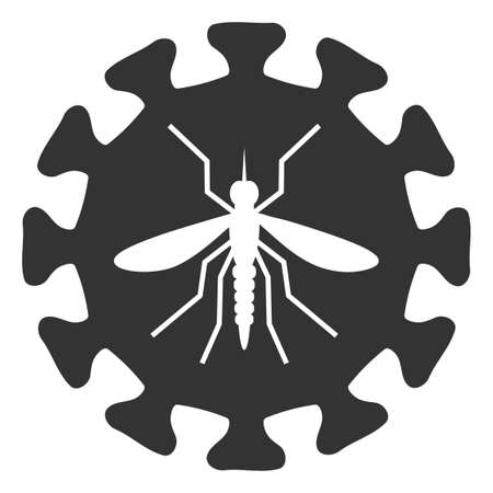 Vector zika virus flat icon. Vector pictogram style is a flat symbol zika virus icon on a white background. 矢量图像