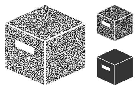 Mosaic Goods box icon designed from trembly elements in random sizes, positions and proportions. Vector bumpy items are arranged into abstract mosaic goods box icon. 矢量图像