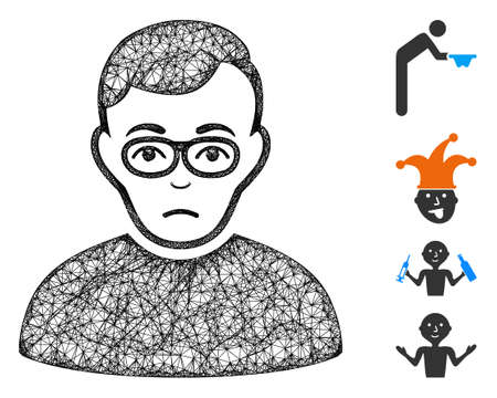 Mesh downer web symbol vector illustration. Carcass model is based on downer flat icon. Network forms abstract downer flat model. wireframe flat web network isolated on a white background.