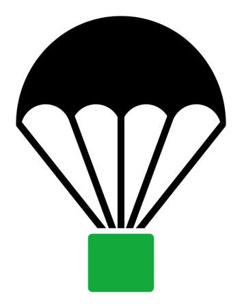 Cargo parachute icon. Illustration style is a flat iconic symbol. Simple Cargo parachute vector illustration.