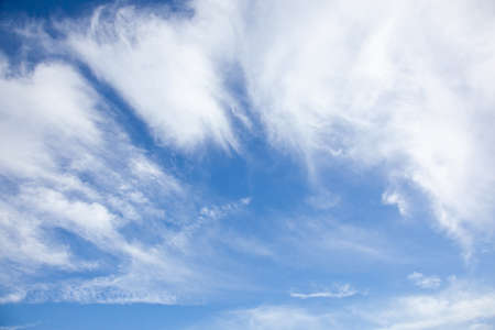 peculiar: blue sky and peculiar formation of clouds