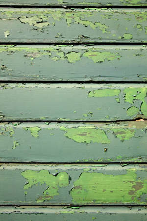 part of weathered old planks of green fencing or boarding Stock Photo - 19023077