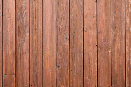 part of fencing or boardingwith brown varnish Stock Photo
