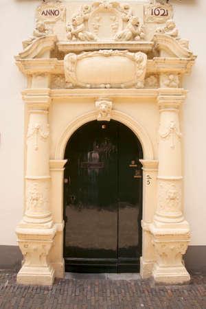 utrecht: poort of bruntenhof in museum quarter of the dutch town utrecht