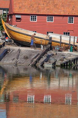 old shipyard in the dutch village of Spakenburg in The Netherlands photo